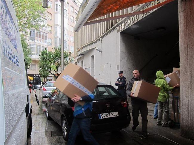 Las redadas en el mercado de A Pedra, en Vigo, durante octubre concluyeron con 20.000 prendas incautadas