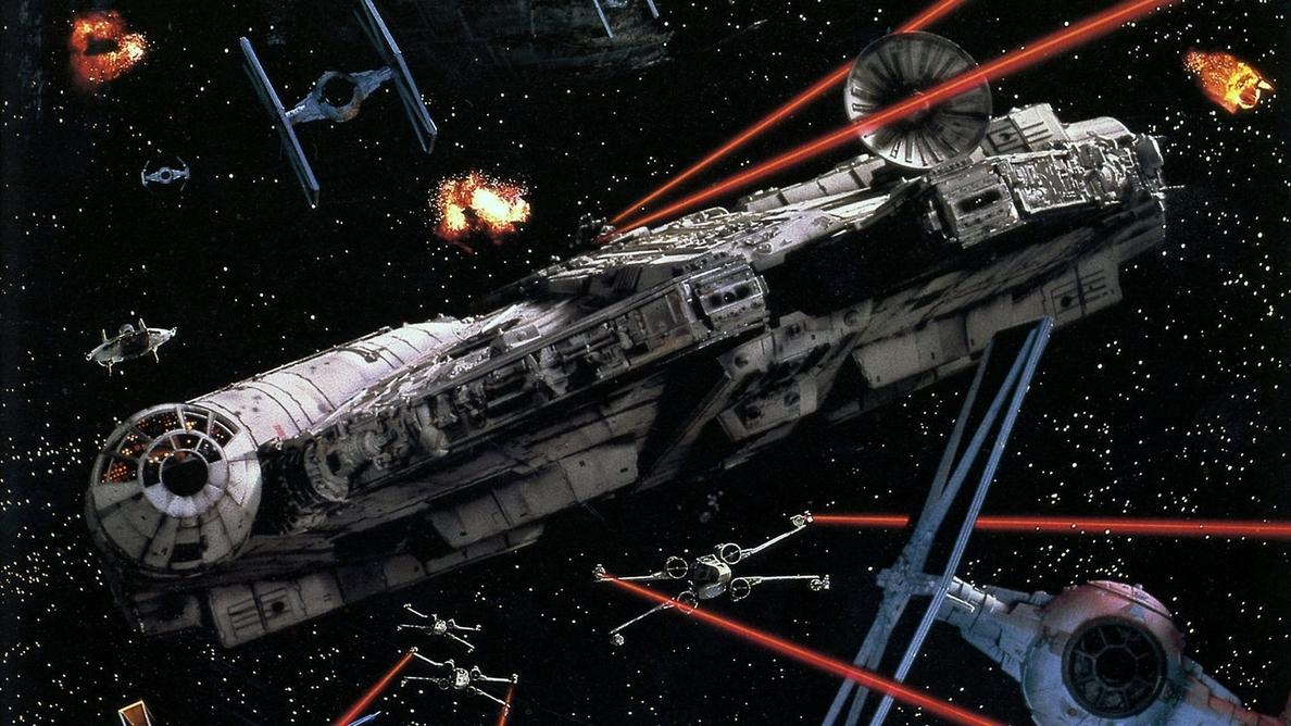 El Halcón Milenario de Star Wars: El despertar de la fuerza, de cerca