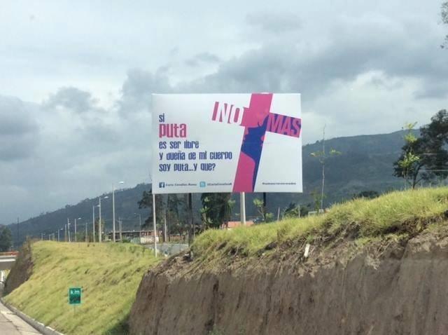 El uso del término «puta» en una campaña contra el feminicidio en Quito levanta ampollas