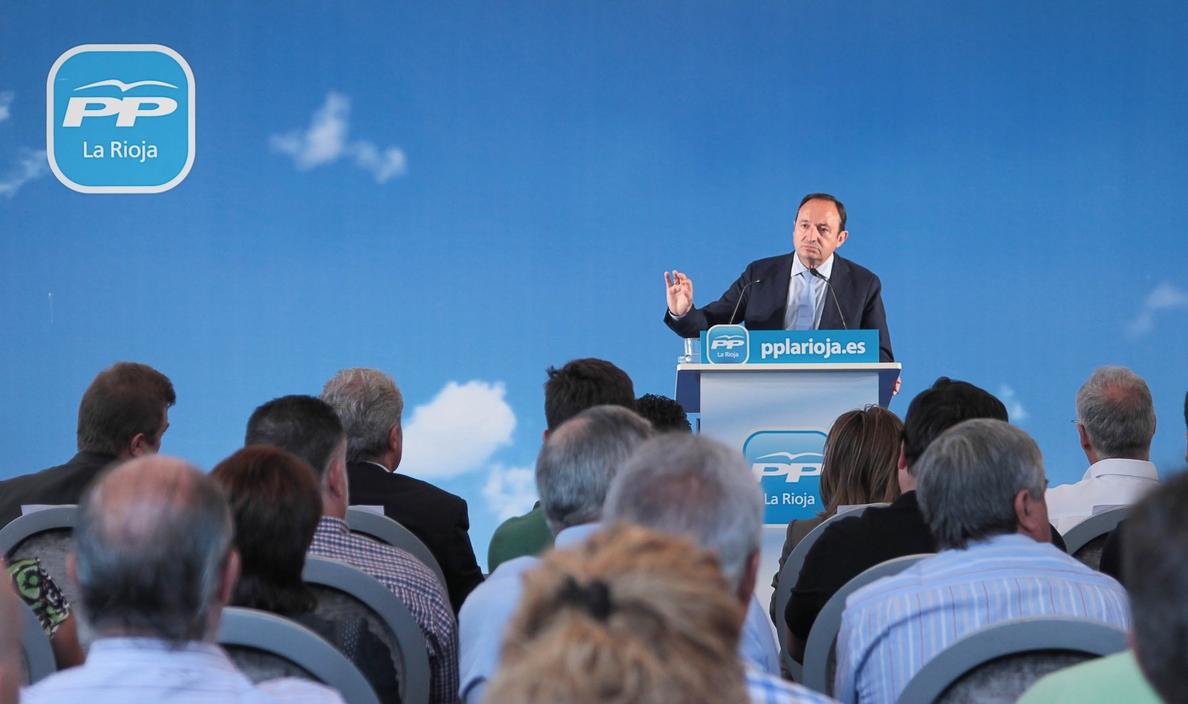 Sanz apunta que una Junta Directiva del PP por votación secreta decida si repite como candidato al Gobierno de La Rioja
