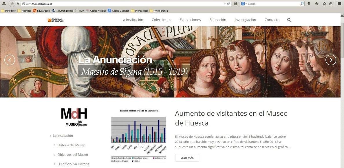 El Museo de Huesca estrena página web