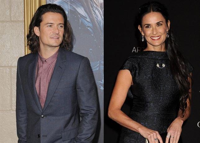 Orlando Bloom y Demi Moore, ¿nueva pareja de moda?