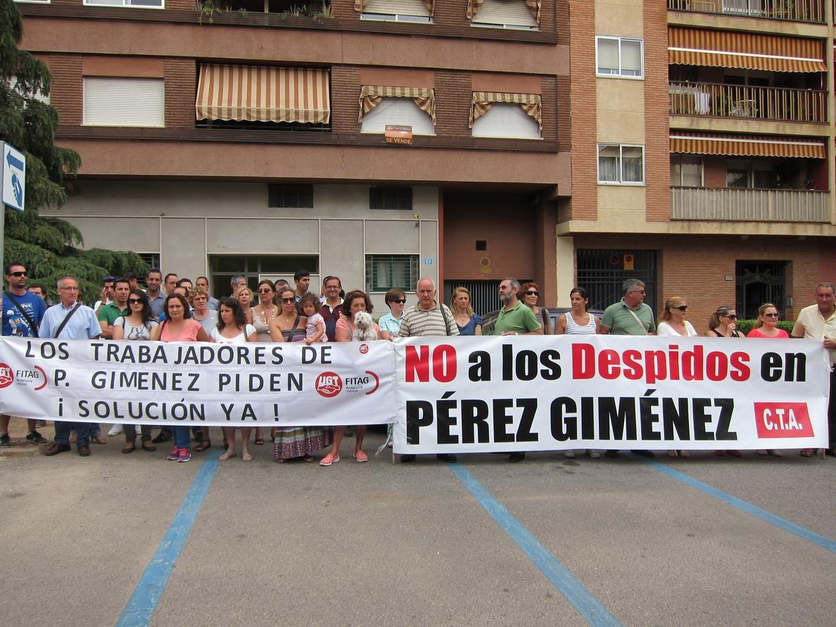 Los sindicatos acusan a los administradores concursales de Pérez Giménez de «provocar a los trabajadores»