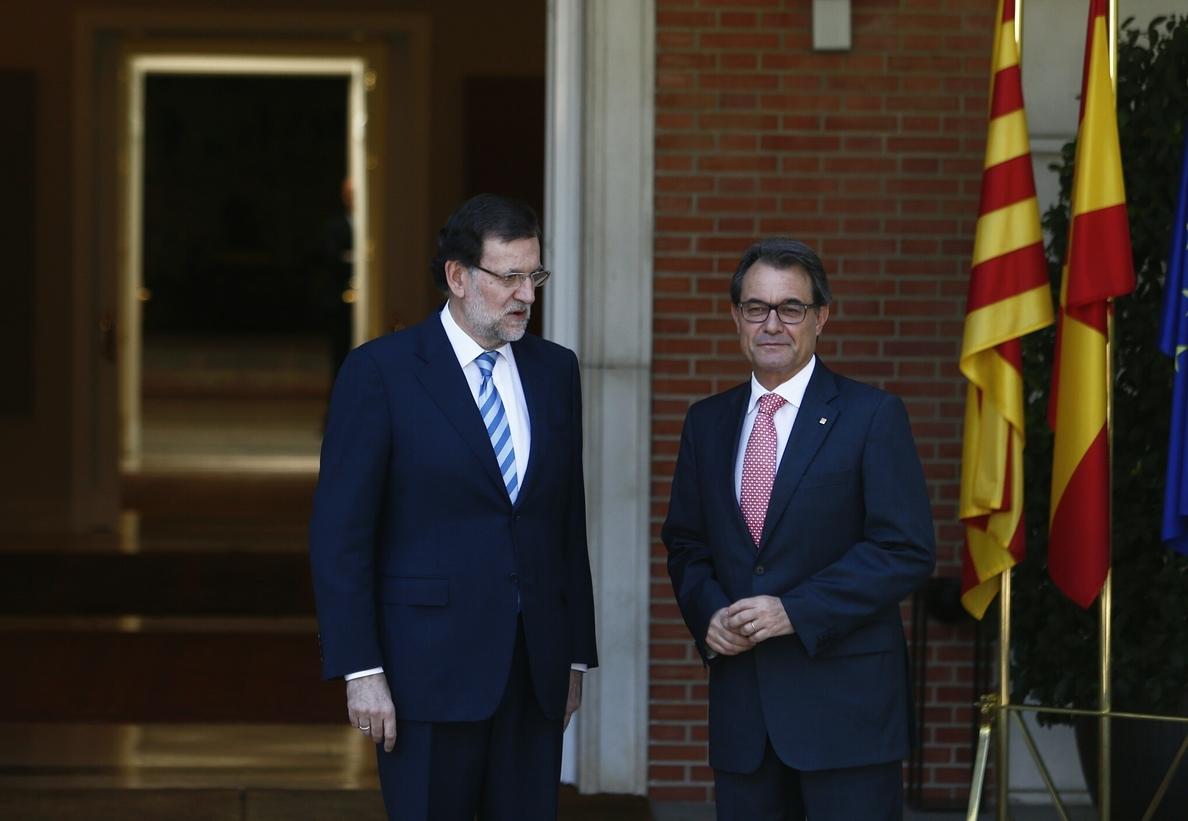 Rajoy y Mas se reúnen hoy por primera vez tras la consulta del 9-N