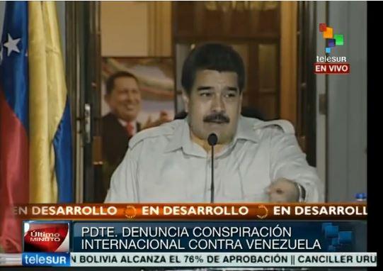 Maduro dice que hay un eje Madrid-Bogotá-Miami que conspira contra Venezuela