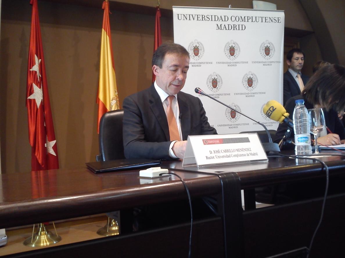 Carrillo convoca este lunes las elecciones a la UCM y fija la primera votación el 5 de mayo
