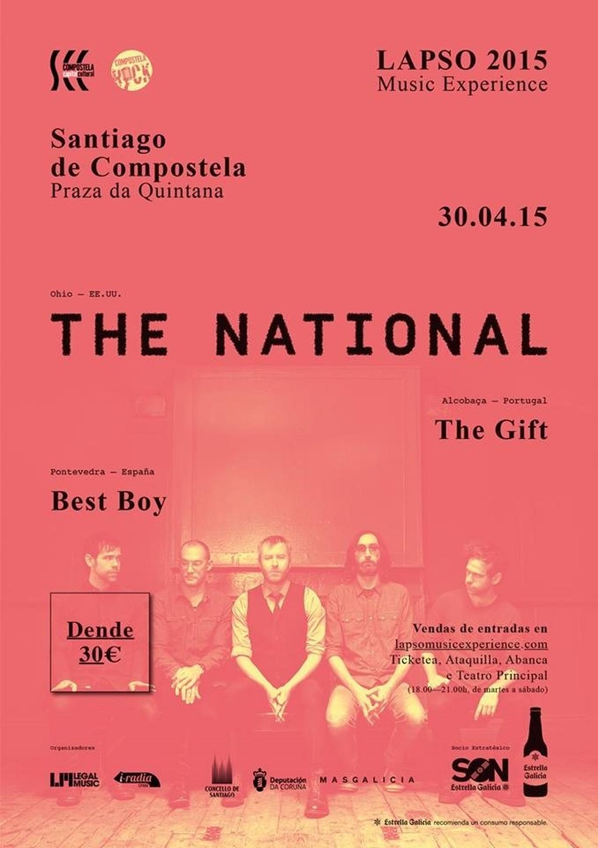 Los estadounidenses The National tocarán en Santiago el 30 de abril en su primer concierto en Galicia