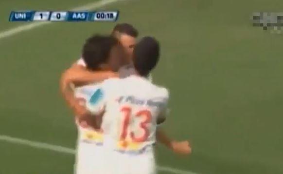 Un uruguayo anota el gol más rápido de la historia del fútbol peruano