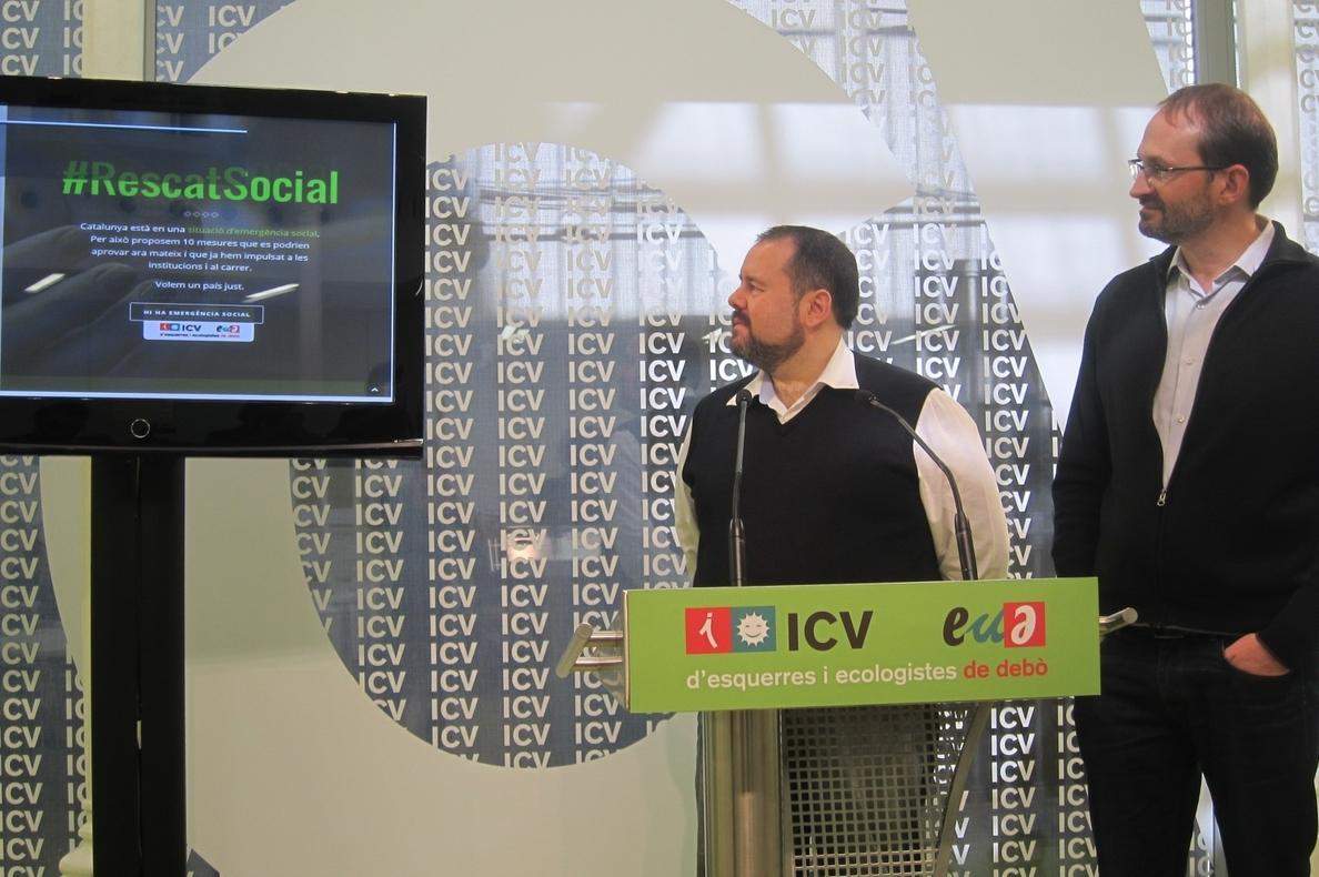 ICV-EUiA promueve un plan de rescate social para recuperar la «dignidad de los catalanes»