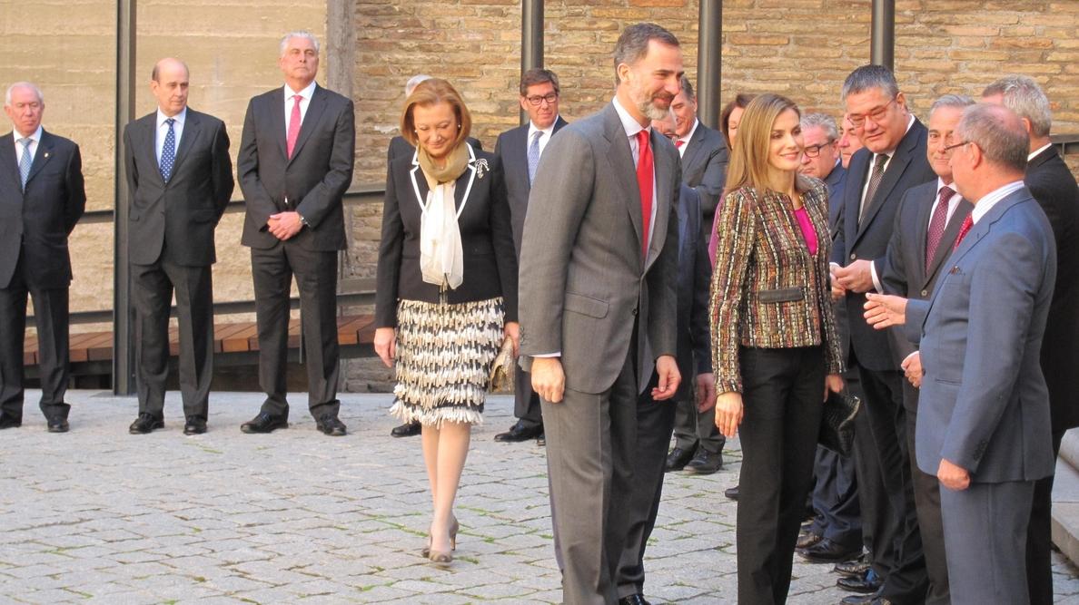 Los Reyes se interesan por el estado y las soluciones a los municipios afectados por la crecida del Ebro