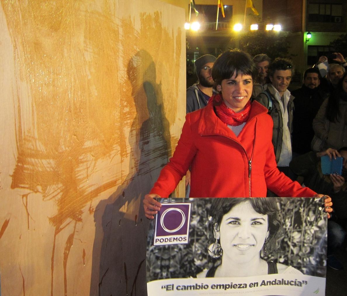 Teresa Rodríguez presume de «representación de lujo» de Podemos en el »debate a siete» de RTVA con Jesús Rodríguez