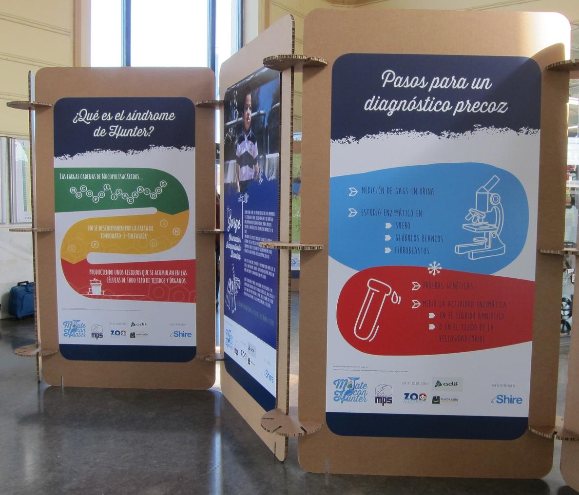 Una muestra fotográfica recorre en la estación de Adif de Valladolid la realidad de ocho niños con síndrome de Hunter
