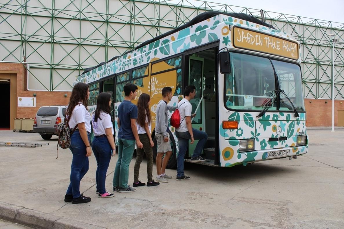 El autobús Jardín Take Away se suma este viernes a la Feria de la Ciencia de Sevilla