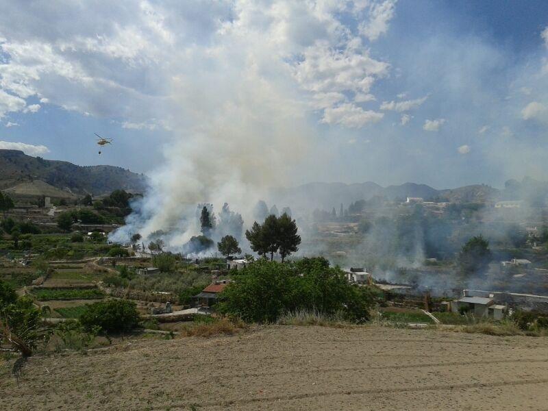 Efectivos del Plan Infomur toman medidas adicionales de prevención ante el aumento del riesgo de incendios forestales