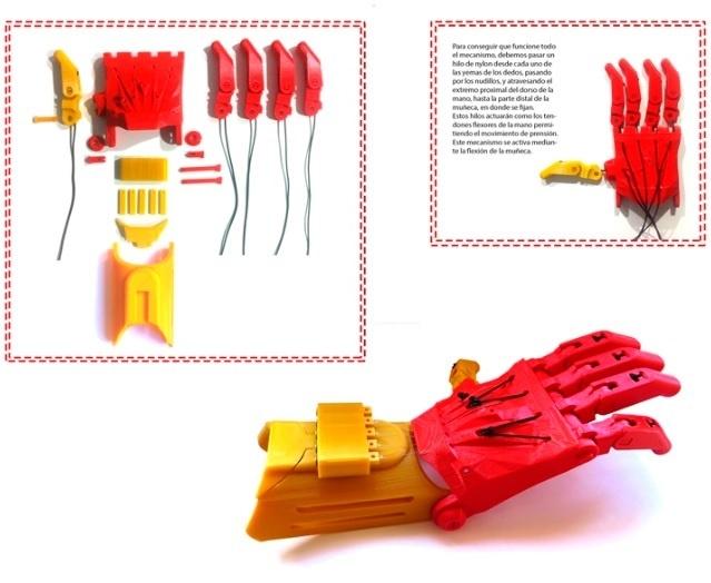 FabLab Madrid CEU crea una prótesis de mano para un niño mediante la impresión 3D