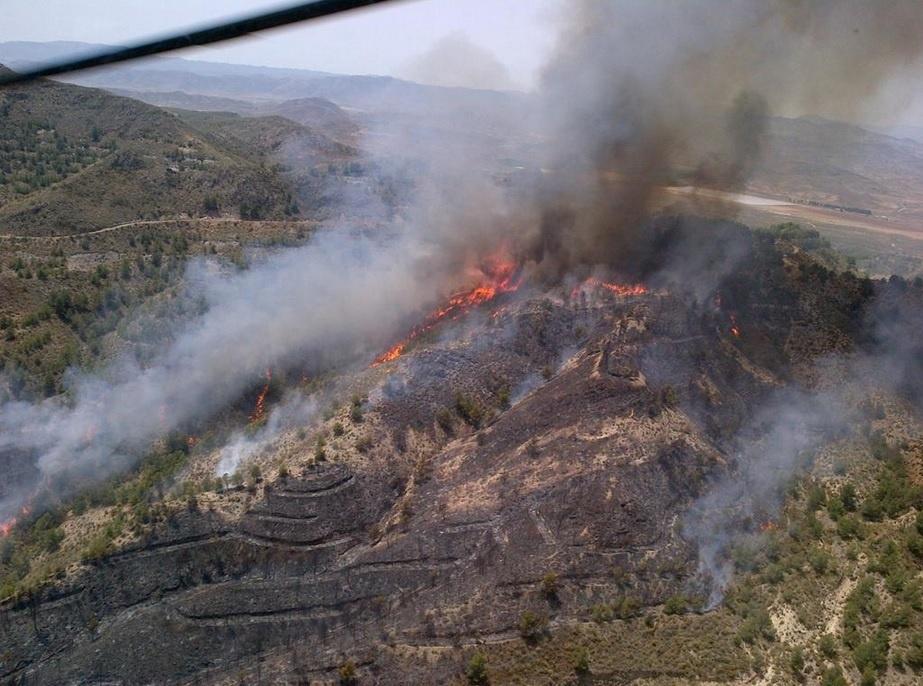 Infoca da por controlado el incendio el incendio en Huércal-Overa y mantiene los medios
