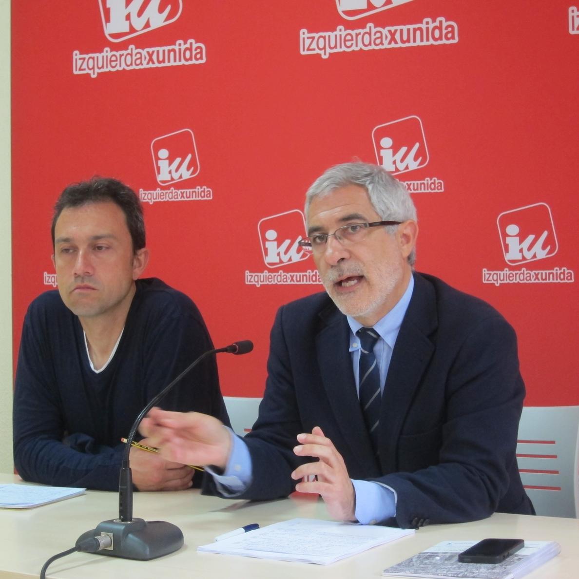 Llamazares (IU) propone un pacto social y político por la sanidad e integrar a Jove en la red pública asturiana