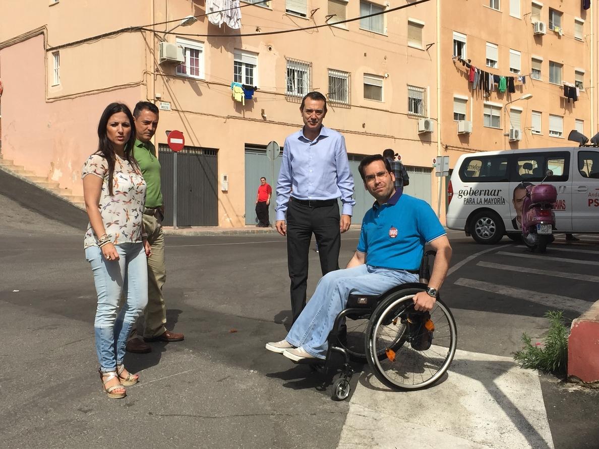 Pérez Navas (PSOE) propone un Plan de Accesibilidad para garantizar movilidad a personas con discapacidad