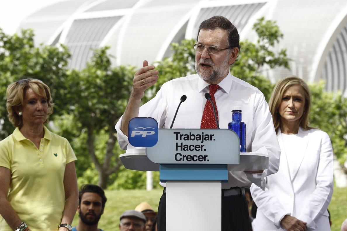 Rajoy: Con Aguirre y Cifuentes la gente «será más feliz»