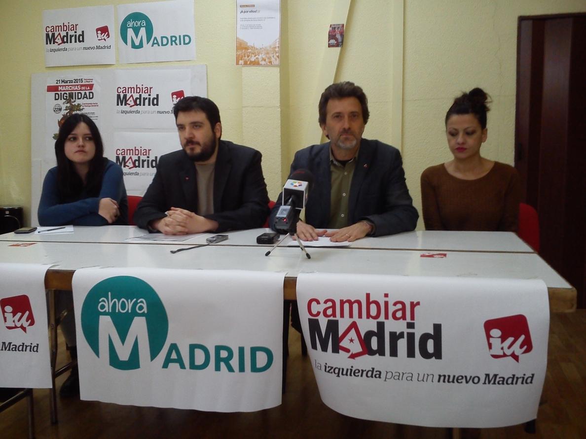 Valiente y Del Cura participan este jueves en una concentración de candidaturas de unidad popular