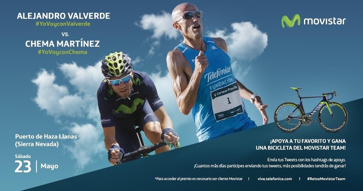 Valverde y Chema Martínez se retan el próximo 23 de mayo en la subida al puerto de Haza Llanas