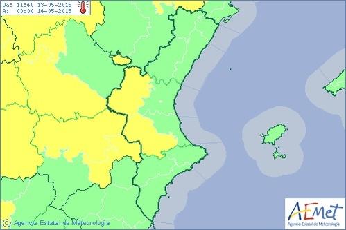 Xàtiva (Valencia) supera los 35 grados y el interior de Castellón supera su máxima histórica de mayo