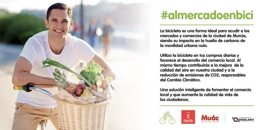 »Al mercado en bici», nueva iniciativa del Ayuntamiento de Murcia