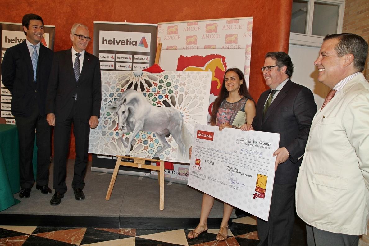 Un caballo tordo en libertad protagoniza el cartel del 25 aniversario de Sicab, obra de Magdalena Almero