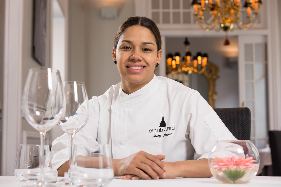 María Marte de El Club Allard, Premio Nacional de Gastronomía al Mejor Jefe de Cocina