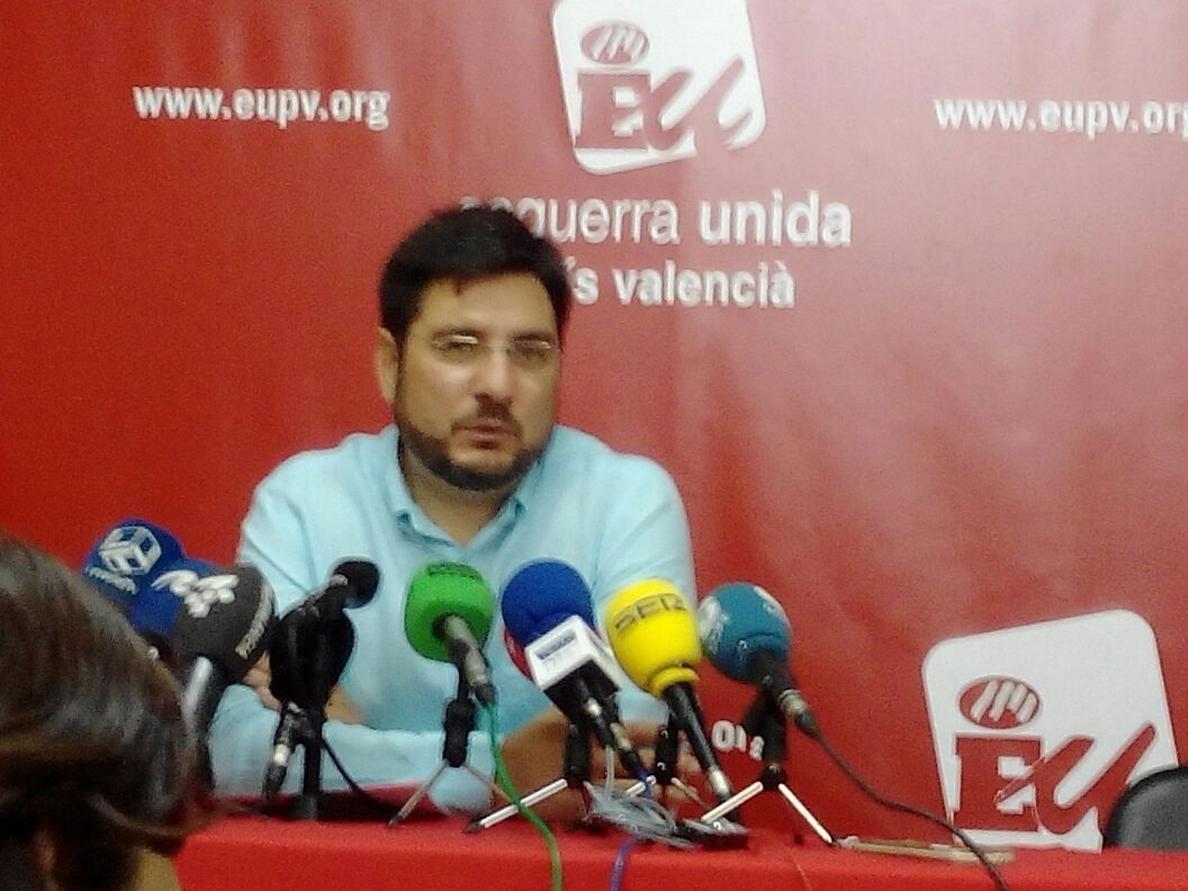 Blanco dimite de sus cargos en EUPV y seguirá como «militante activo»