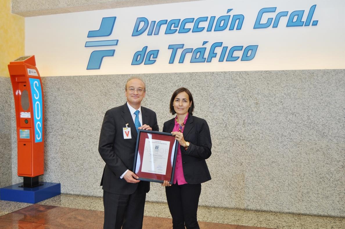 La DGT recibe la certificación de Aenor por su Sistema de Gestión de Seguridad Vial Laboral