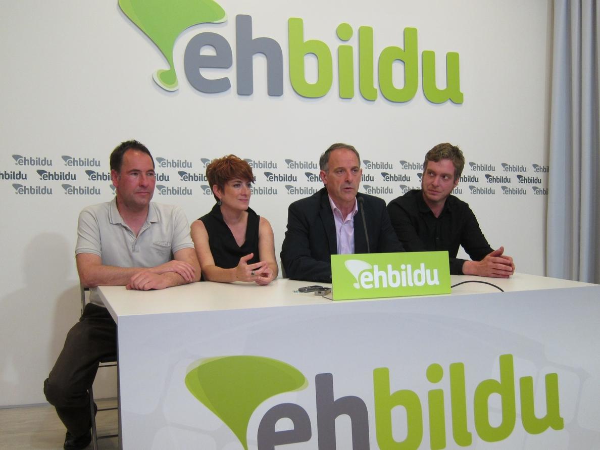 EH Bildu aboga por un gobierno «cuatripartito» en Navarra, sin la participación del PSN