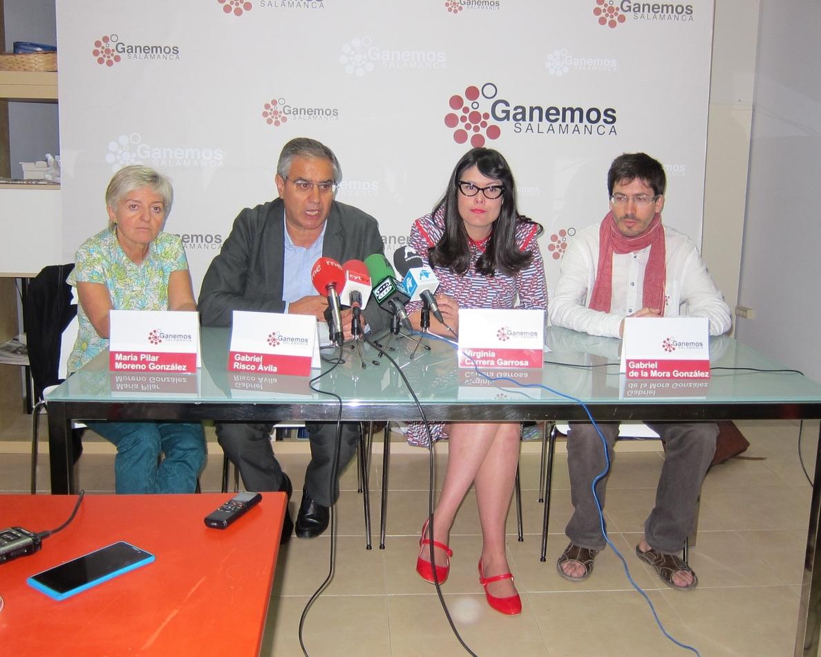 Ganemos pide «coherencia» a Ciudadanos para conseguir que «no gobierne el PP» en el Ayuntamiento de Salamanca