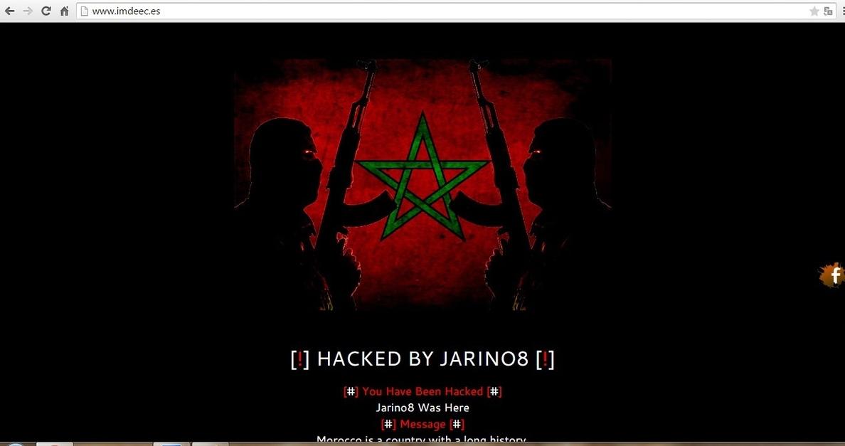 »Hackean» la web del Instituto Municipal de Empleo de Córdoba con mensajes ultranacionalistas marroquíes