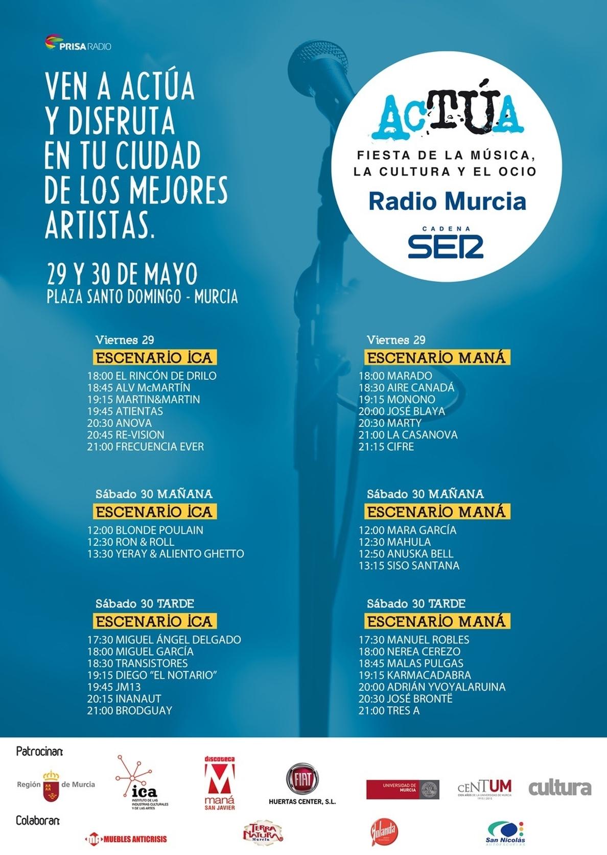 La plaza de Santo Domingo acoge este viernes »Actúa 2015», la fiesta de la música, la cultura y el ocio de Cadena SER