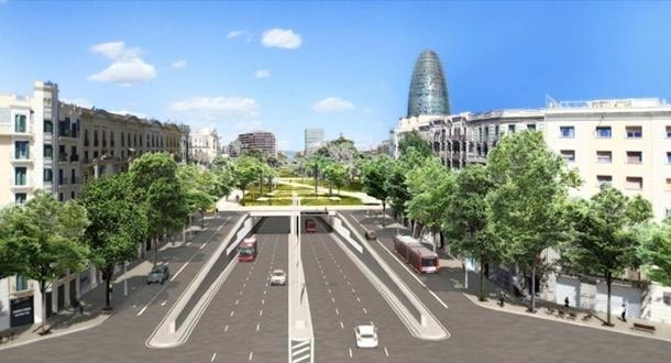 Cortes de tráfico en Glòries por la construcción de los túneles viarios