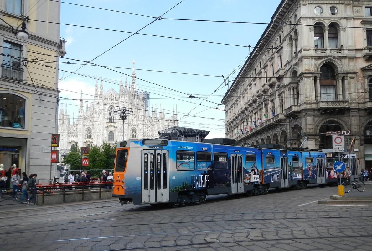 Tenerife se promociona en los tranvías de Milán