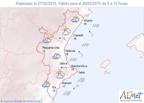 El fin de semana será nuboso con probabilidad de lluvias en el interior de la Comunitat