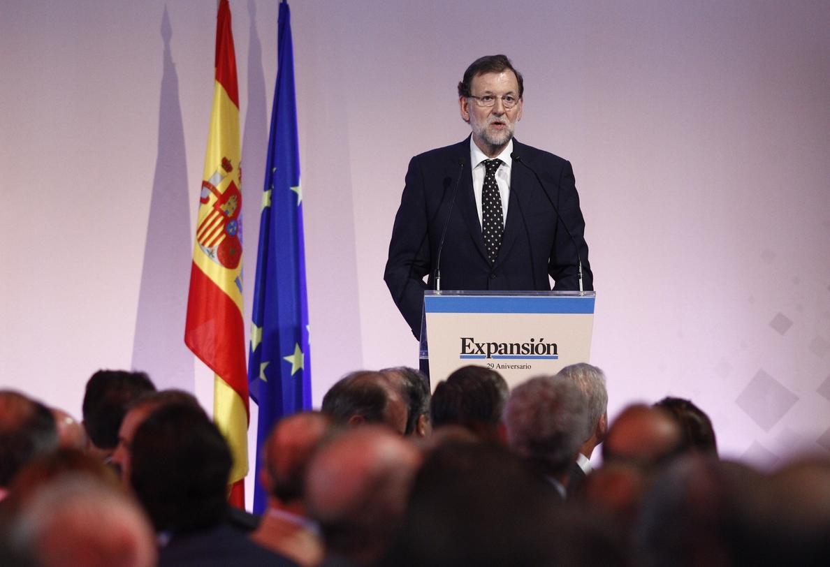 Rajoy eleva al 3,3% el crecimiento de este año y al 3% el de 2016