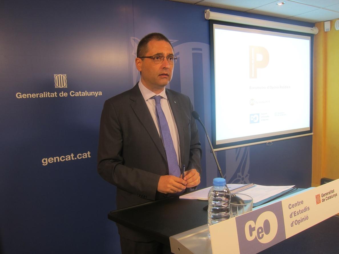 CiU y ERC empatan en intención de voto y Podemos es tercero según el CEO