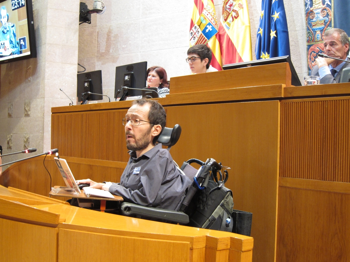Echenique (Podemos) da su apoyo «puntual» a Lambán, que cumplirá de forma «cabal» sus compromisos