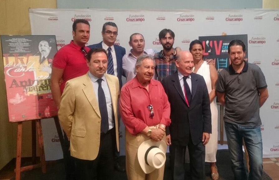Aurora Vargas, Jesús Méndez y Pastora Galván, en el LIV Festival de Cante Jondo Antonio Mairena