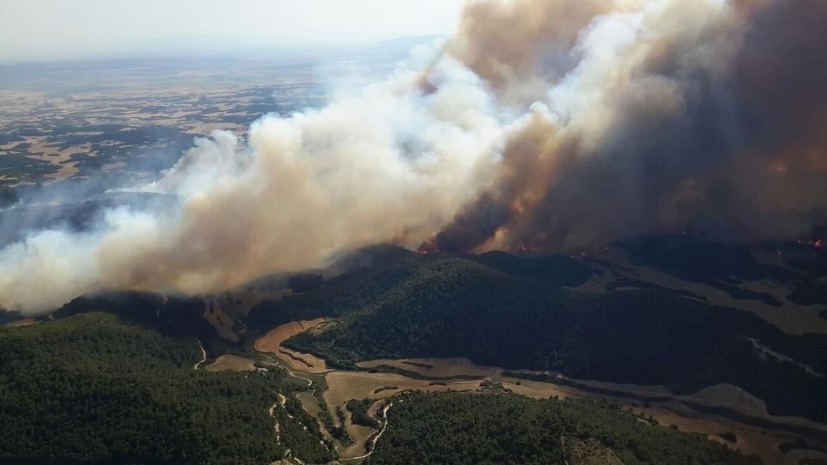 Los vecinos de Biota y Farasdués, desalojados por el incendio, pueden volver a sus casas