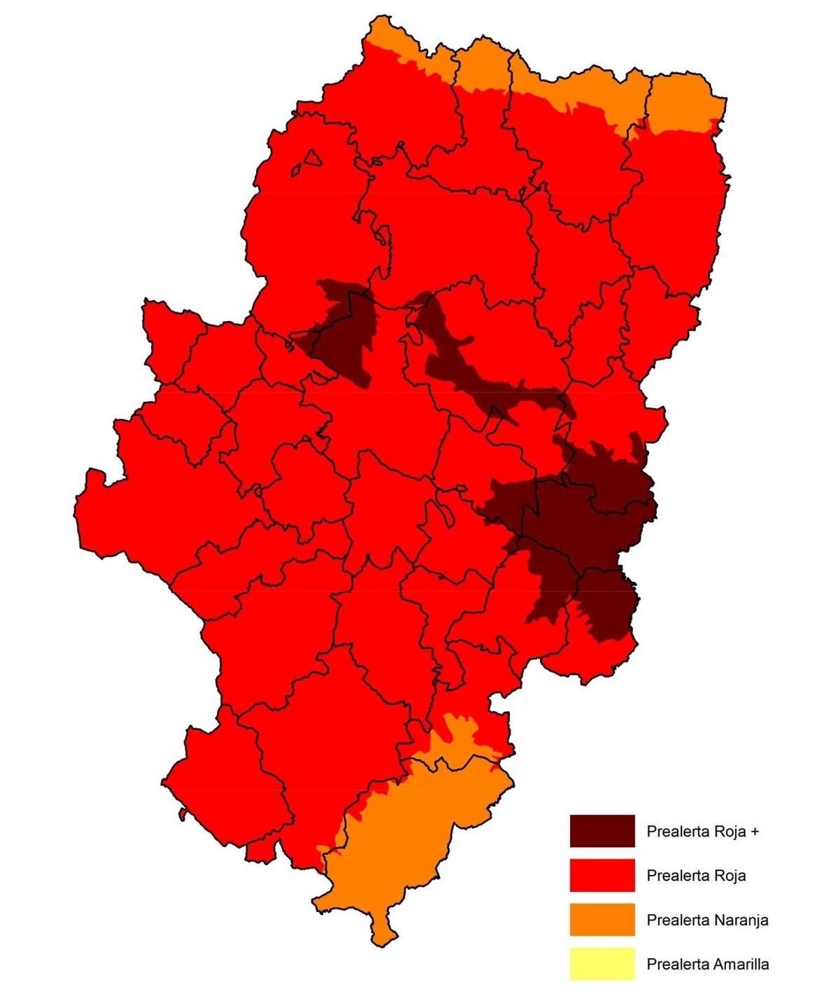 Activada la prealerta roja+ por riesgo de incendios forestales