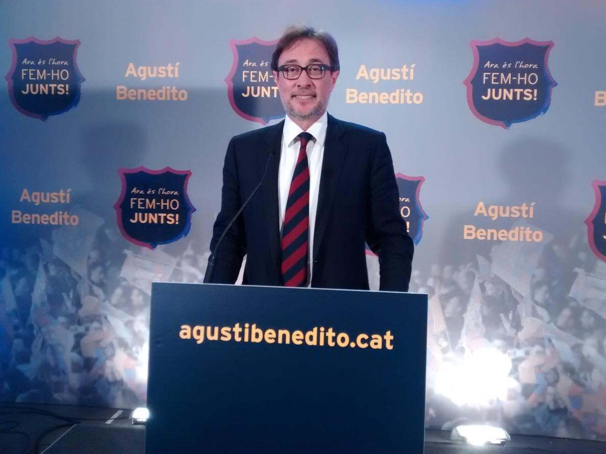 Benedito presenta una bebida energética como alternativa a Catar en la camiseta