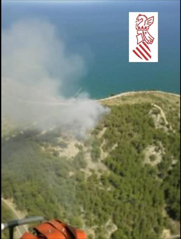 Declarados dos incendios en los municipios castellonenses de Oropesa y Azuébar