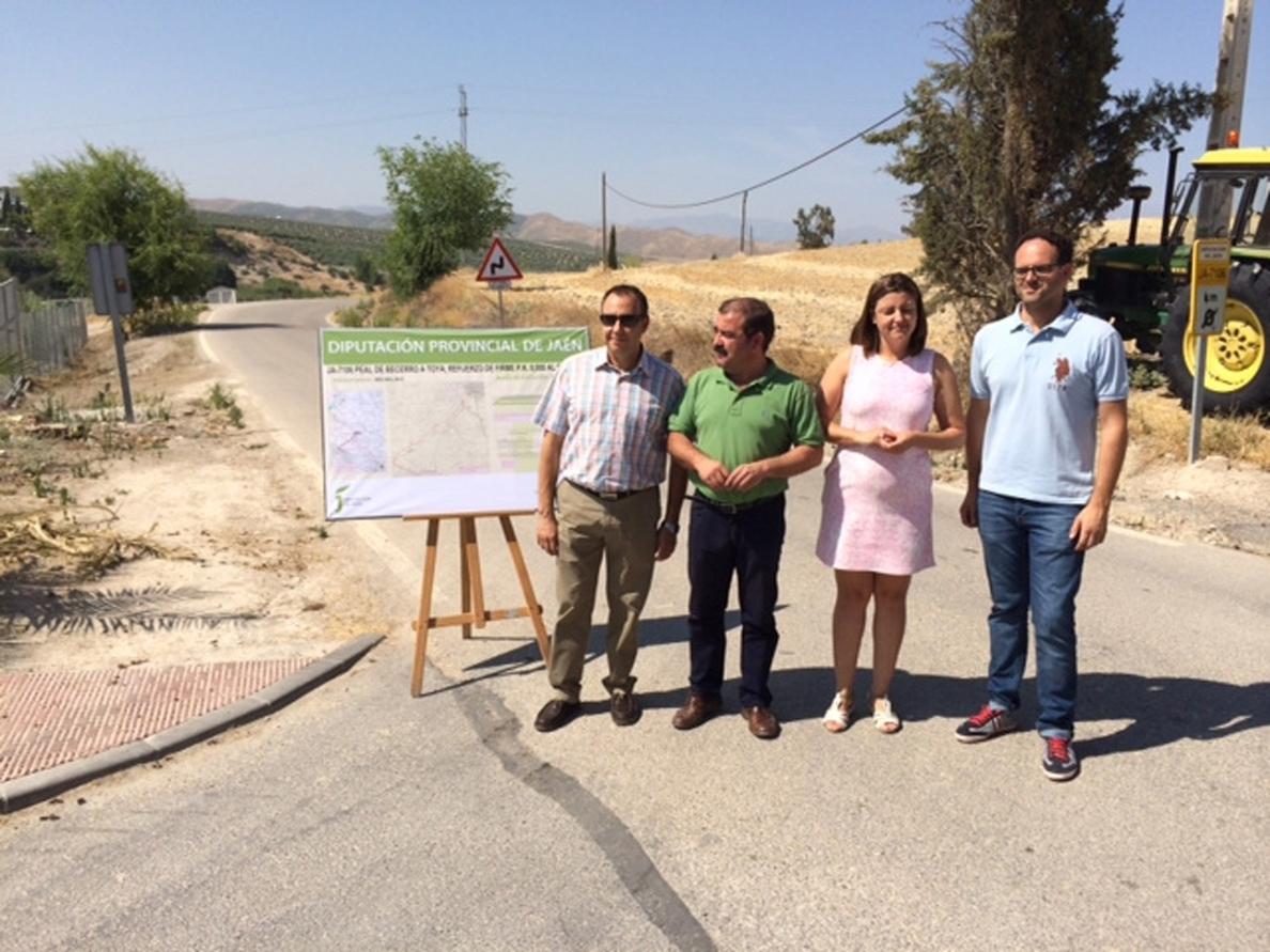 La Diputación invertirá 950.000 euros en mejorar la conexión entre Peal de Becerro y Toya