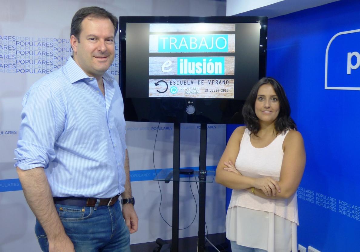 Molina y Jurado apuestan por la formación para afrontar los retos  de futuro del PP cordobés