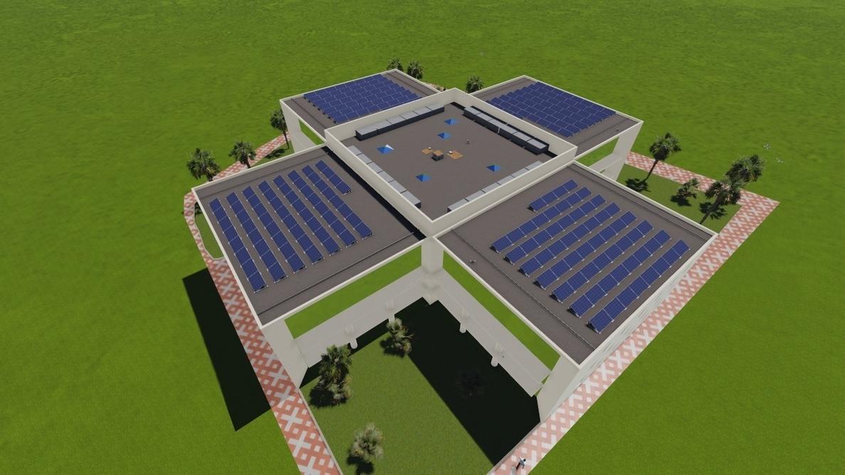 La sede del Puerto de Tarragona instala una placa fotovoltaica para reducir consumo energético