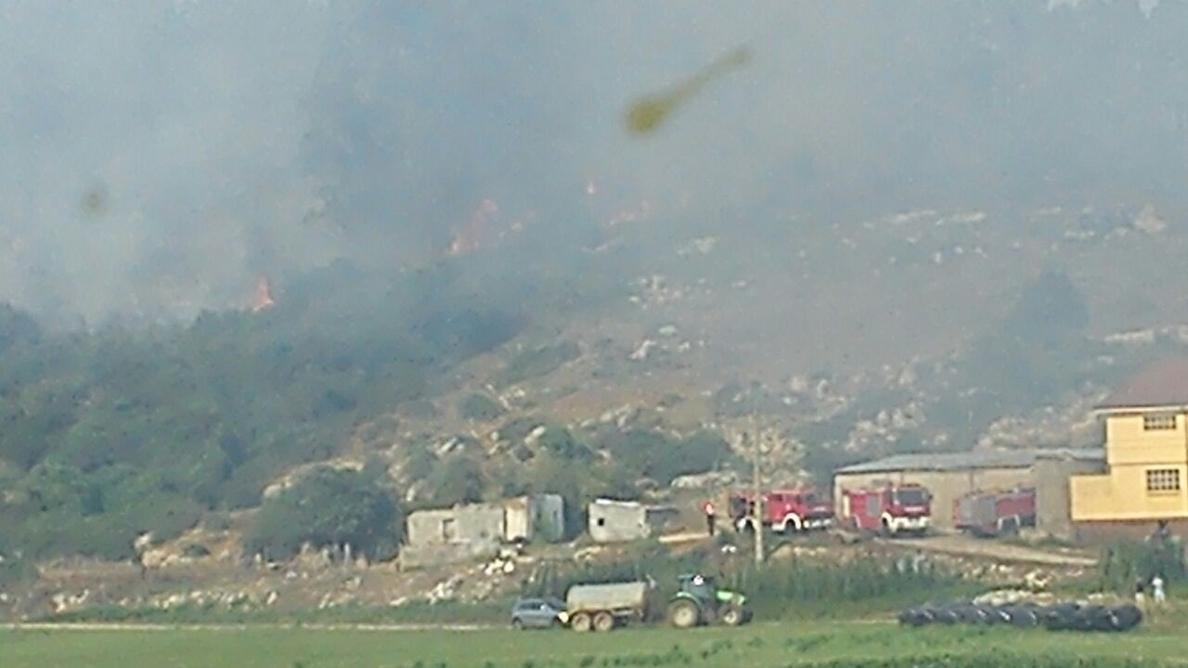 El incendio forestal de Camargo ha afectado a 22 hectáreas